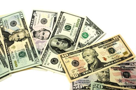 deficits: dollars Stock Photo