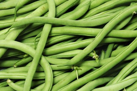 green beans: franc�s frijoles Foto de archivo