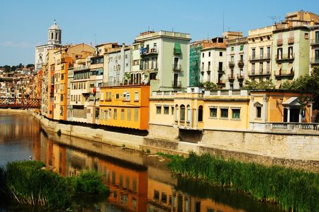 jewish houses: gerona,spain Stock Photo