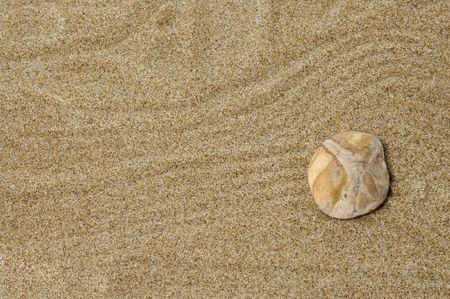 thalasso: Pierre dans le sable.