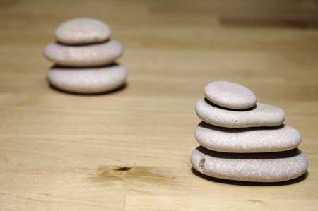 karesansui: stones Stock Photo