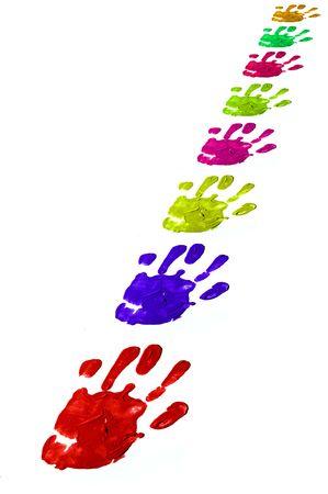 racisme: kleur handen