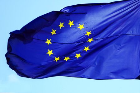 abstention: European flag Stock Photo
