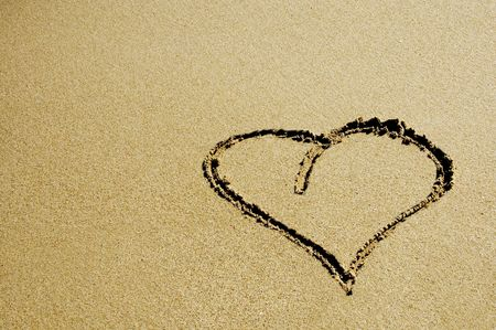 evoking: heart in the sand