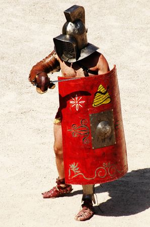 wrestlers: gladiators Stock Photo