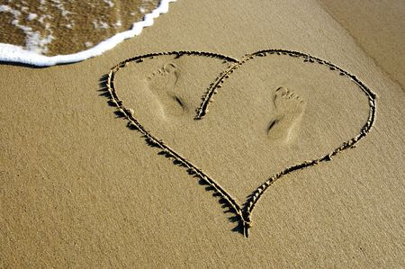 heart in the sand photo