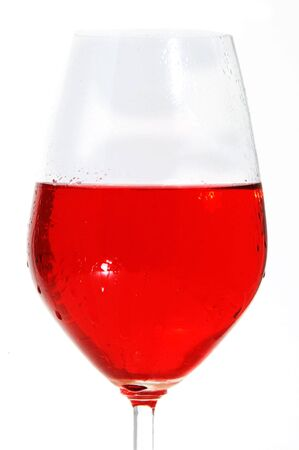 lambrusco:  red wine on a white  background isolated Stock Photo