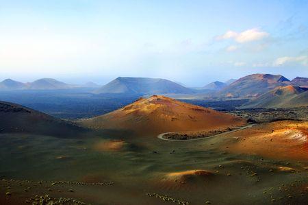 lanzarote: Nationaal Park Timanfaya in lanzarote, Spanje  Stockfoto