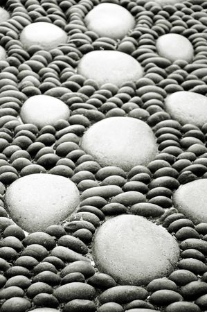 thalasso: ZEN pierres fond blanc et noir, spa
