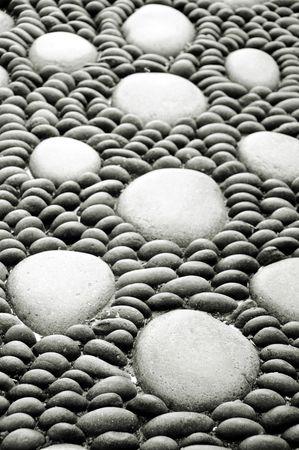 thalasso: zen stones background white and black , spa