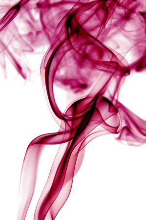 fuming: colored smoke isolated  on a white background