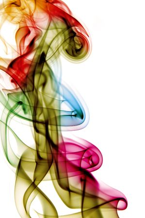 volatile: colored smoke isolated  on a white background