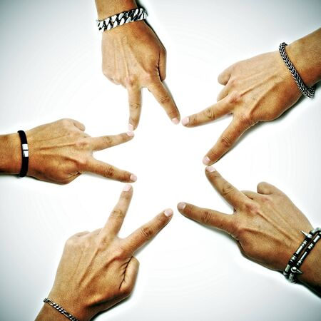 hands drawing a star on a white background Stock Photo - 6003454