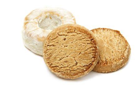 polvoron, typical spanish sweet on white background Stock Photo - 6003423