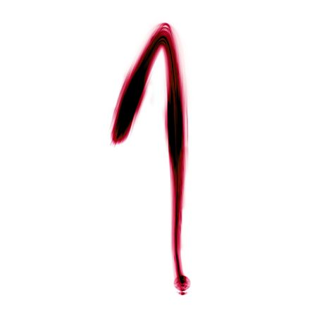 red numbers written with a pen on a white background photo