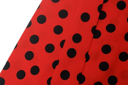 moles:  flamenco red dress on a white background Stock Photo