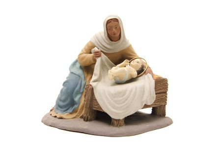figure of the Virgin Mary to represent the nativity scene  photo
