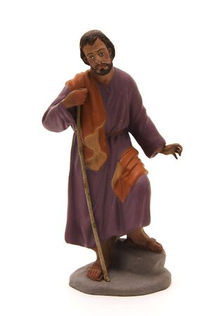 st  joseph: figure of the  st, joseph to represent the nativity scene  Stock Photo