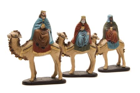 figures of the Three Kings to represent the nativity scene  photo
