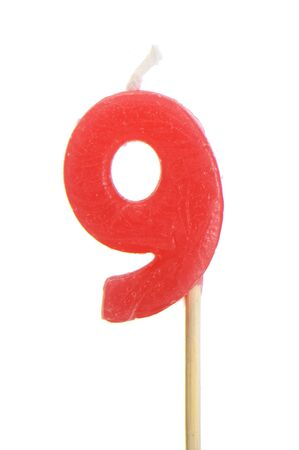 birthday candle number on a white background photo