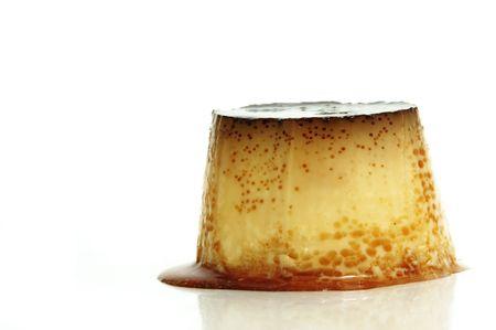 a flan dessert on a white background Stock Photo - 6148669