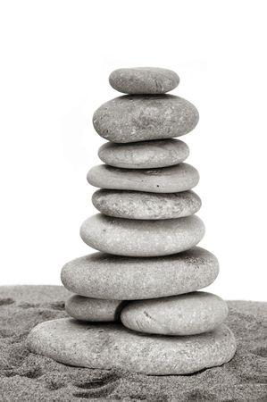 a zen stones on a white background Stock Photo - 6157254