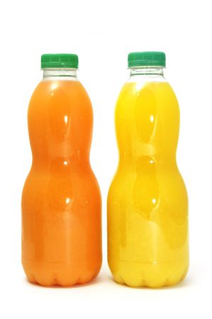 a bottle of juice on a white background photo