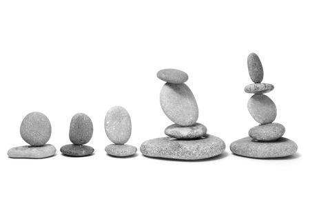 a zen stones on a white background Stock Photo - 6219072
