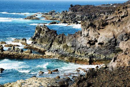 los hervideros: Los Hervideros, Lanzarote, in the Canary Islands, Spain Stock Photo