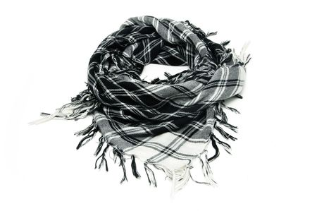Keffiyeh scarf isolated on a white background
