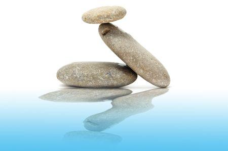 a zen stones on a white background Stock Photo - 6258359