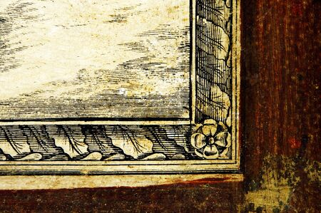 an antique framed map background for designers Stock Photo - 6257393