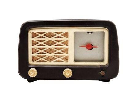 close up of an antique radio receptor photo
