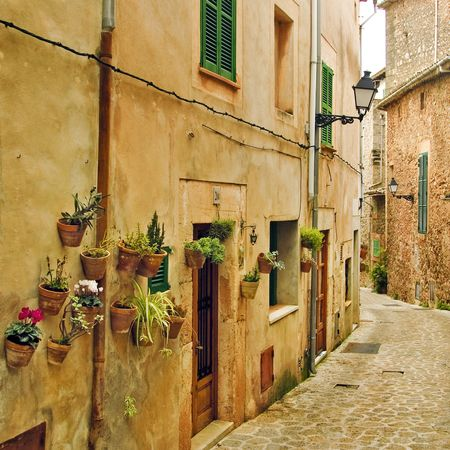 mallorca: a view of a litle old mediterranean village Stock Photo