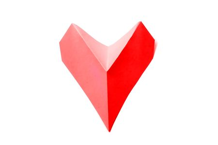 a colored hearts on a white background Stock Photo - 6336615