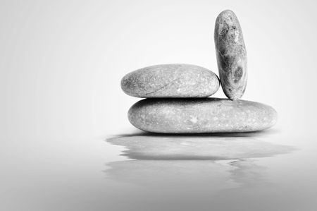 a zen stones on a white background Stock Photo - 6336791
