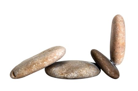 isolated zen stones on a white background Stock Photo - 6336792