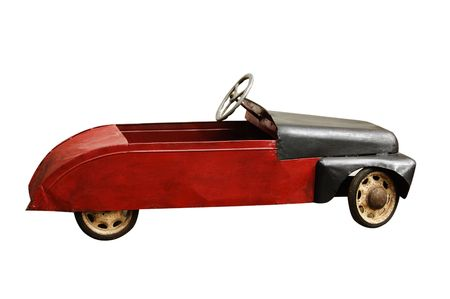 antique toy car isolated on a white background