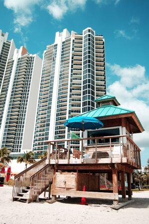 a view of sunny-island beach, Miami Beach, Florida, USA Stock Photo