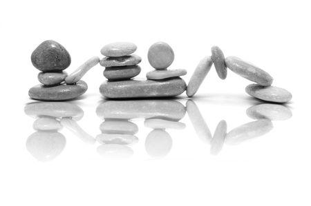 zen steine: eine Zen Steine Hintergrund wei� und Schwarz  Lizenzfreie Bilder