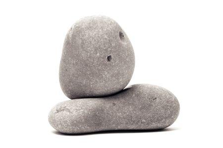 thalasso: un zen pierres arrière-plan blanc et le noir