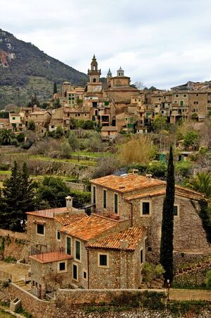 mallorca: a view of Valldemossa, Mallorca, Balearic Islands, Spain