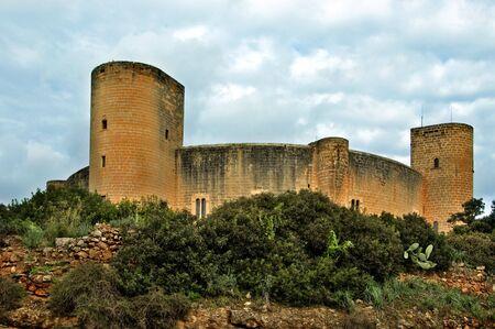 a view of  Bellver Castle , Palma, Mallorca, Spain photo