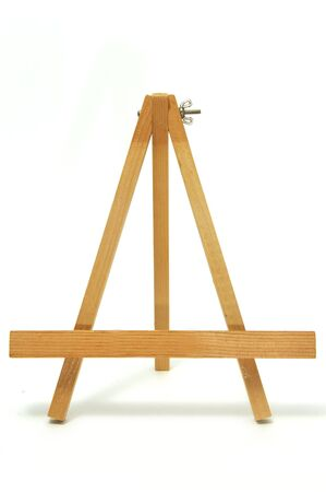 an empty easel isolated on a white background photo