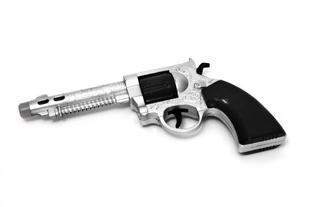 a toy gun isolated on a white background Stock Photo - 6416913