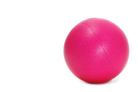 beanbag: a little pink ball isolated on a white background Stock Photo