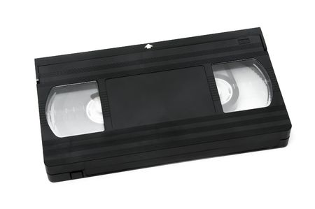 videotape: a videotape isolated on a white background