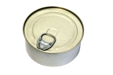 an isolated can on a white background photo