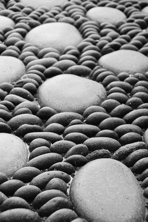 a zen stones background white and black Stock Photo - 6507030