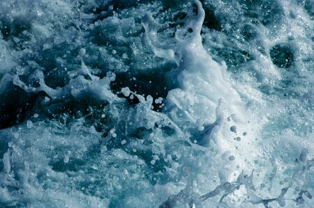 seawater: splash of seawater with sea foam and waves
